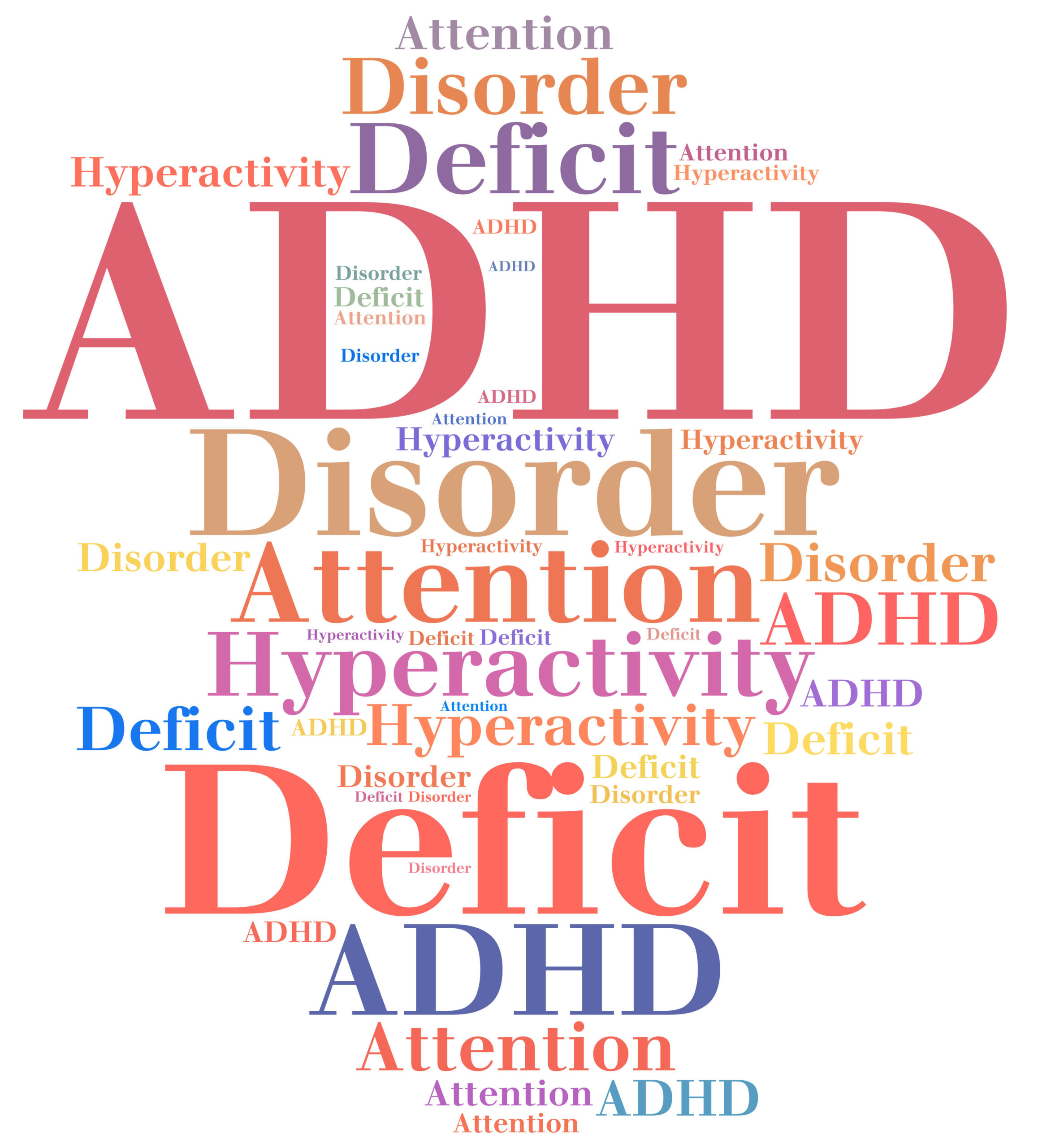 ADHD - Attention deficit hyperactivity disorder. Disease abbreviation.